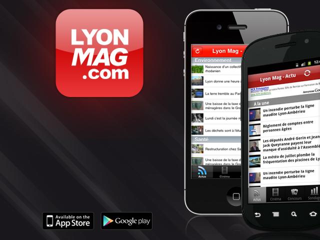 Téléchargez les applications LyonMag pour Android et iPhone !