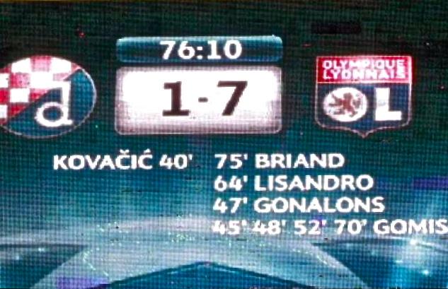 Dinamo Zagreb-OL : le miracle du 7 décembre (vidéo)