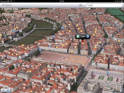 Lyon sera modélisé en 3D sur iPad et iPhone