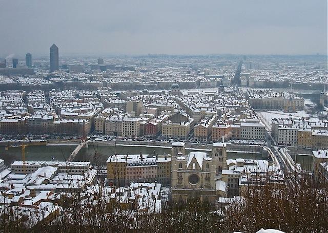 Vague de froid à Lyon : après le vent, la neige !