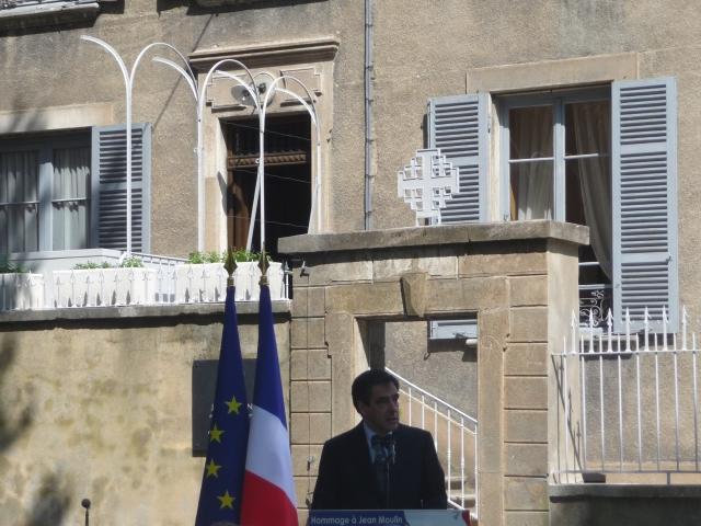François Fillon lors de l'inauguration du mémorial Jean Moulin - Photo Lyonmag.com