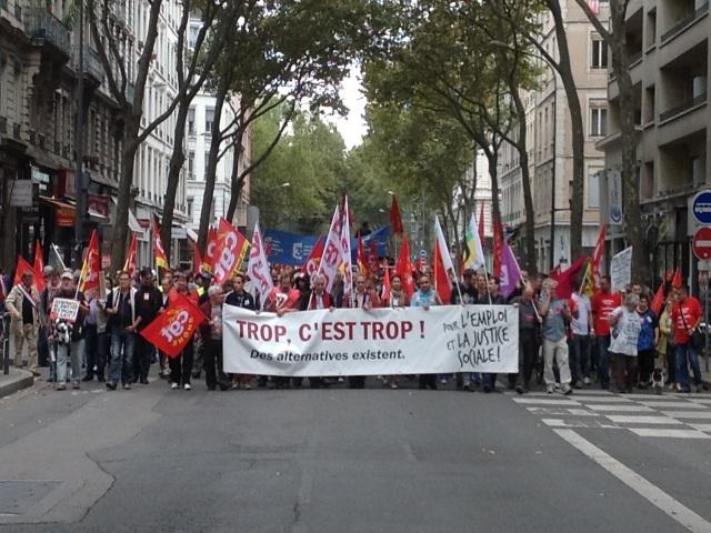 Retraites et emploi : entre 4300 et 8500 personnes dans la rue à Lyon