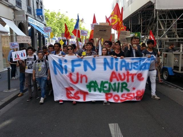 150 personnes réunies contre l'extrême-droite à Lyon