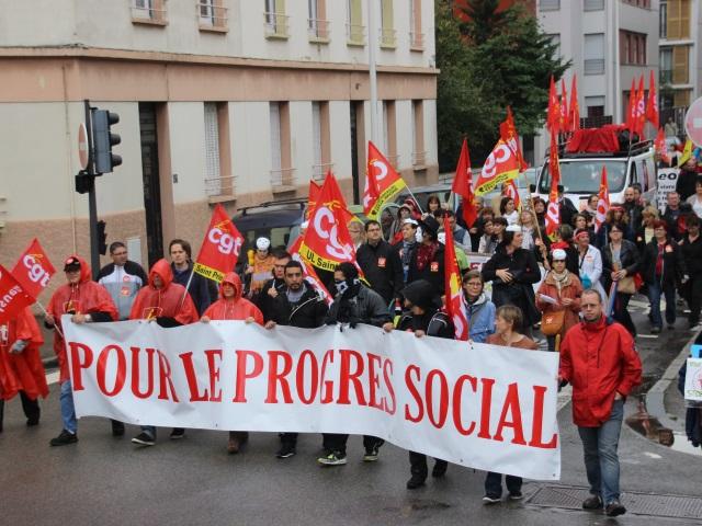 Lyon : plus de 1500 personnes ont manifesté à l'appel de la CGT