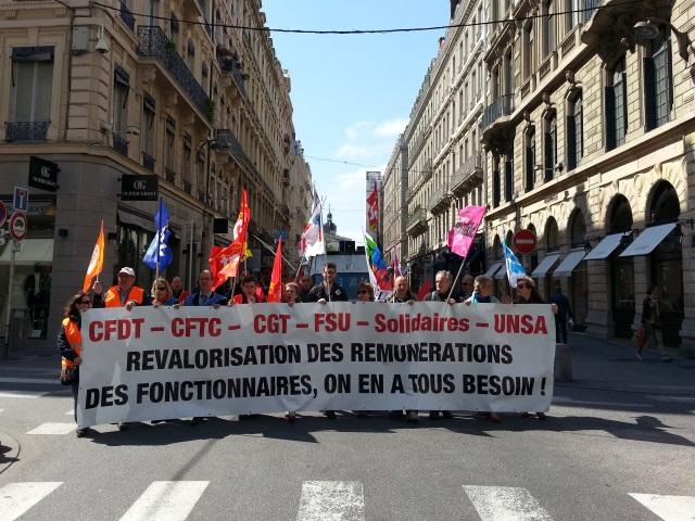 Journée d'action de la fonction publique : plus de 2700 personnes manifestent à Lyon