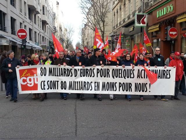 Lyon : près de 1800 personnes répondent à l'appel de la CGT