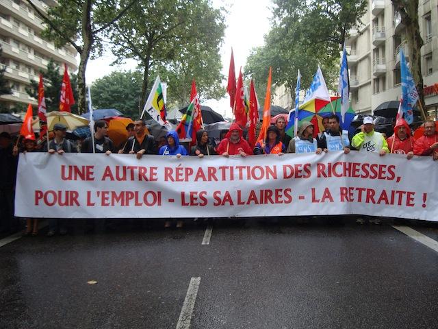 Lyon : journée de grèves et de manifestation mardi pour les retraites et l'emploi