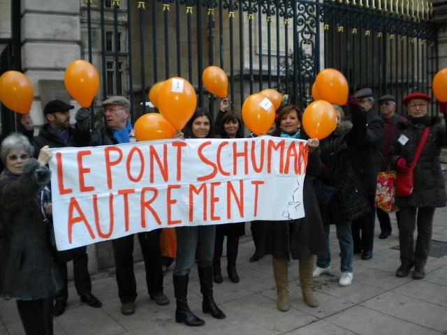 Lyon: les riverains du futur pont Schuman ne désarment pas