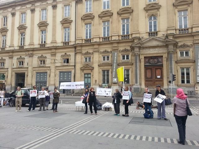 Petit rassemblement à Lyon pour la Syrie jeudi soir