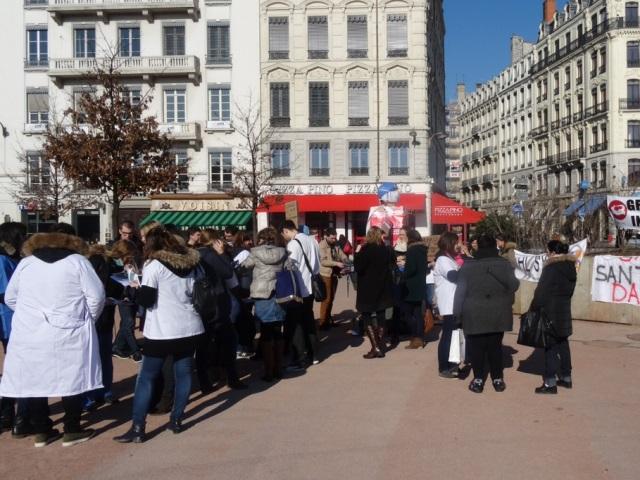 Projet de loi santé : manifestation des internes à Lyon