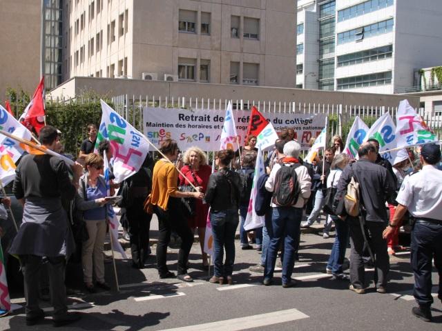 Faible mobilisation mercredi à Lyon contre la réforme du collège