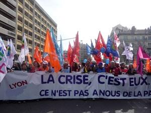 Manifestation sociale - Photo Lyonmag.com