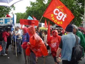 A Lyon, EDF/GDF et la Poste rejoignent le mouvement de grève de la SNCF