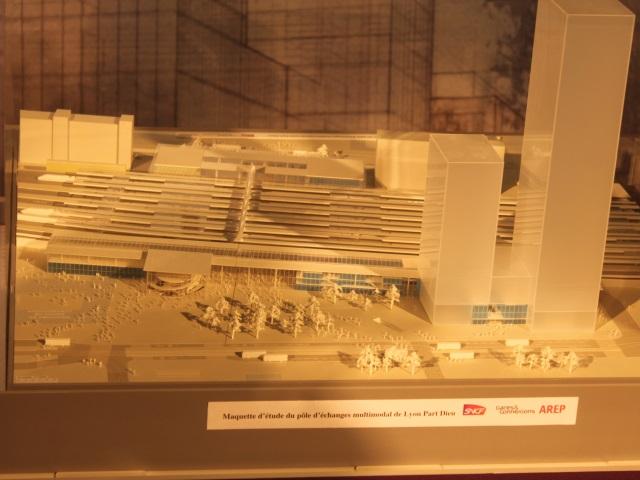 La maquette de la gare de la Part-Dieu nouvelle version exposée au public