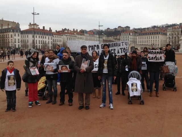 Lyon : près de soixante-dix personnes pour rendre hommage à Sophia