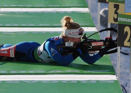 Biathlon : premier succès de l'hiver pour la lyonnaise Marie Dorin Habert