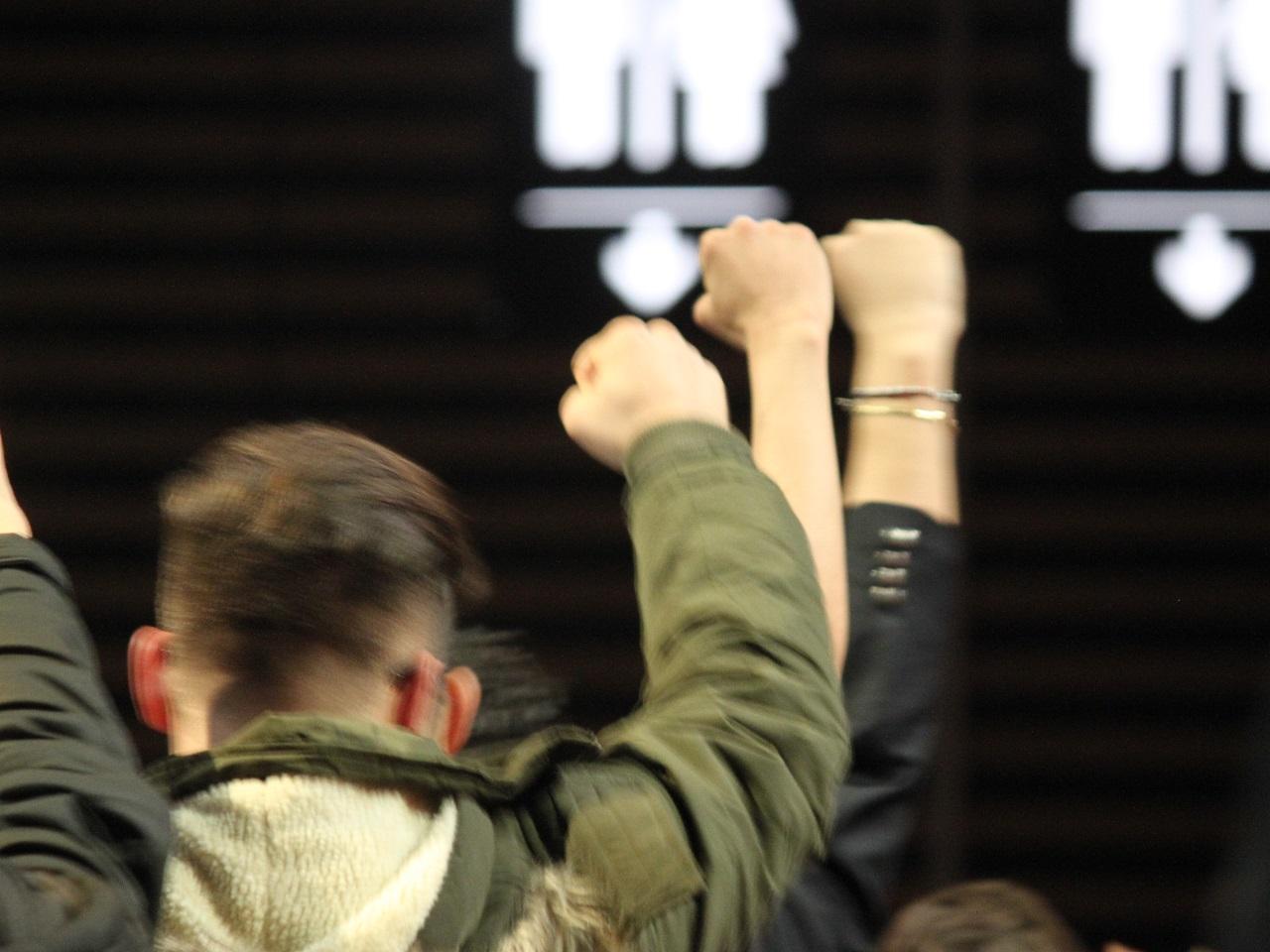 Les poings levés dans la foule - LyonMag