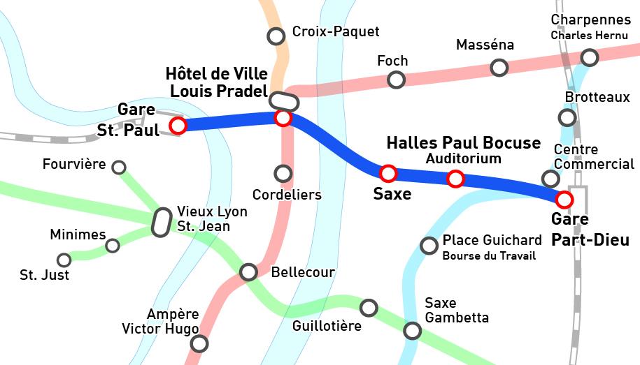 La ligne de métro souhaitée par Michel Havard - DR