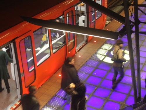 Il réussit à entrer dans le tunnel du métro D et perturbe la circulation