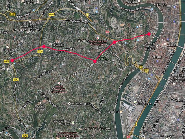 Le métro comme Gérard Collomb l'imagine dans le 5e - DR Google