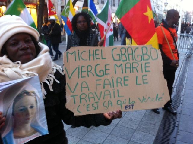 Lyon : environ cinquante personnes rassemblées pour Michel Gbagbo