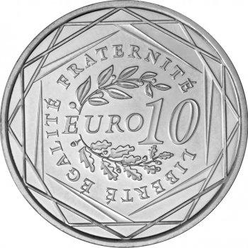Les frères Lumière sur la pièce de 10 euros de la région Rhône-Alpes