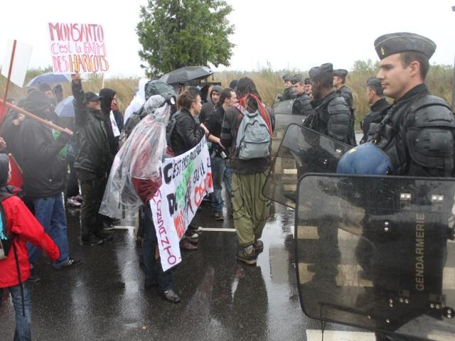 Une centaine de personnes ont manifesté à Bron contre Monsanto