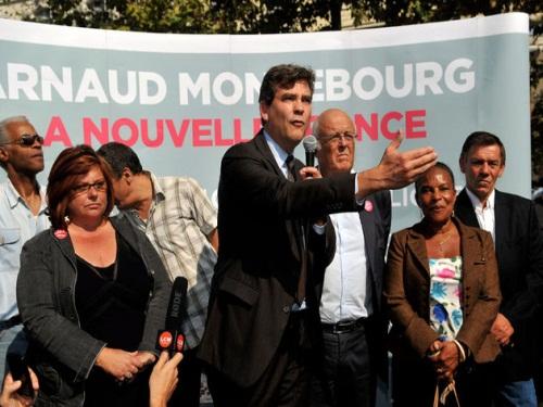 Arnaud Montebourg en stand-up à Lyon