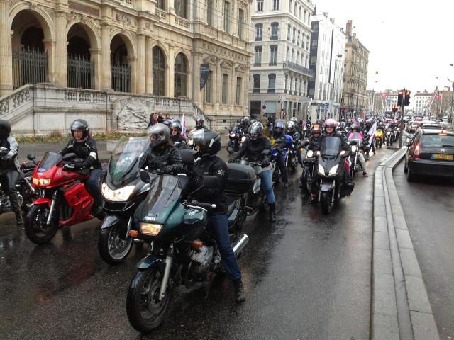 """""""Toutes en Moto"""" : le parcours dimanche après-midi à travers les rues de Lyon"""
