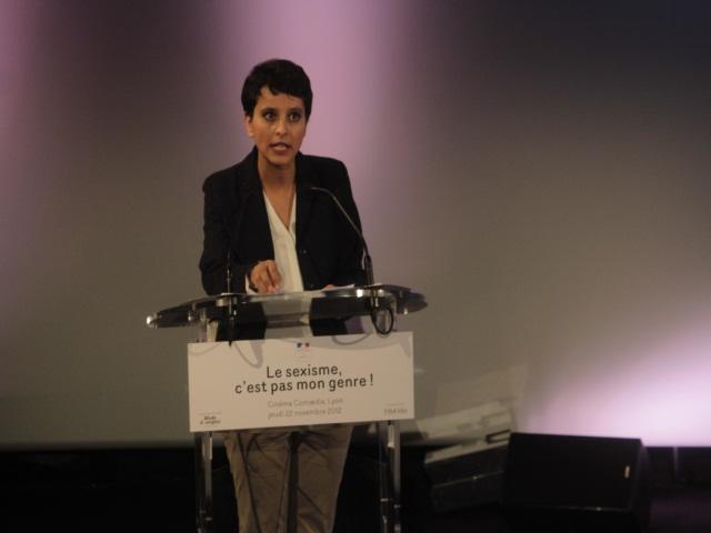 Najat Vallaud-Belkacem se mobilise à Lyon contre le sexisme