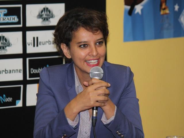 Najat Vallaud-Belkacem en déplacement à Villeurbanne