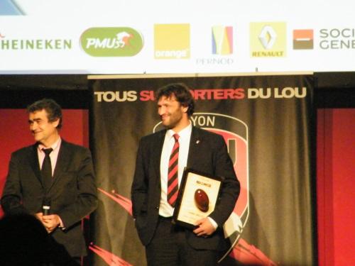 Lionel Nallet reçoit un Oscar Midi Olympique