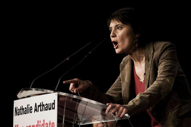 """Présidentielle : Nathalie Arthaud appelle à la """"révolte"""" à Vénissieux"""