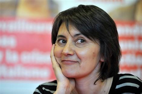 Nathalie Arthaud se réjouit de la grève des salariés d'Apple en France