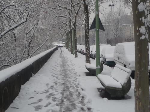 La neige laisse la place à un temps froid et sec