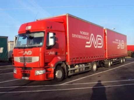 Les camions Norbert Dentressangle avant de passer sous pavillon américain - DR