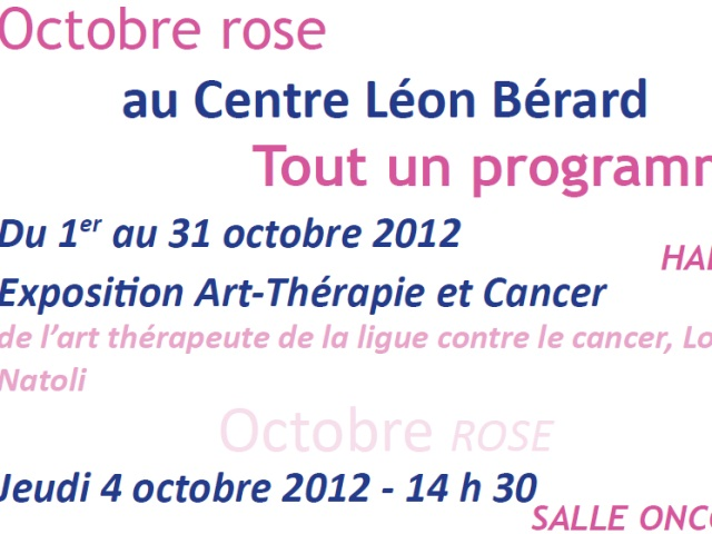 Affiche Octobre Rose- Photo DR.