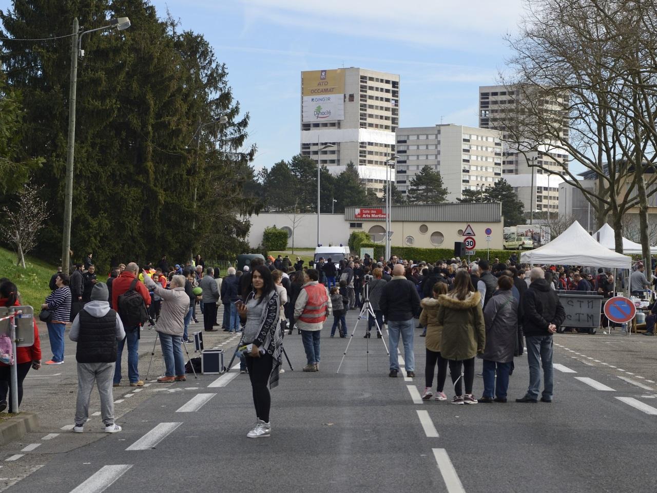 La population attendait la destruction des tours Lyautey - DR Jean-François Marin