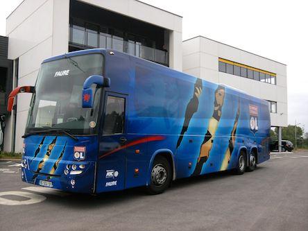 Le bus de l'Olympique Lyonnais - DR