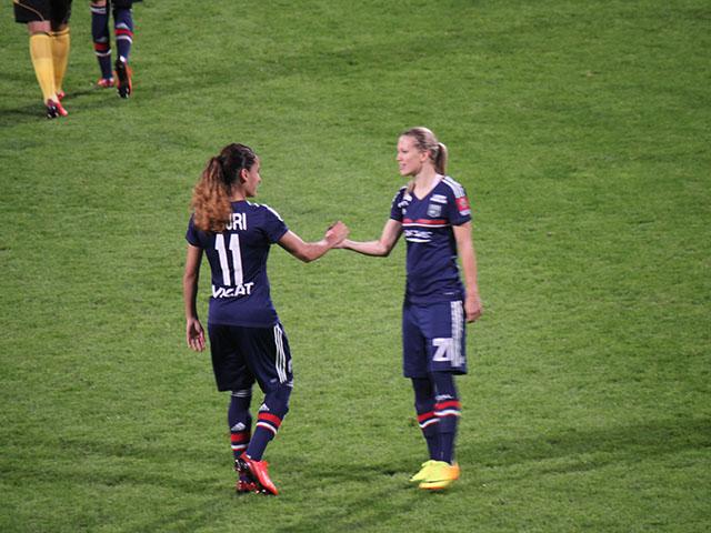 L'OL féminin s'impose 2-1 face à Montpellier