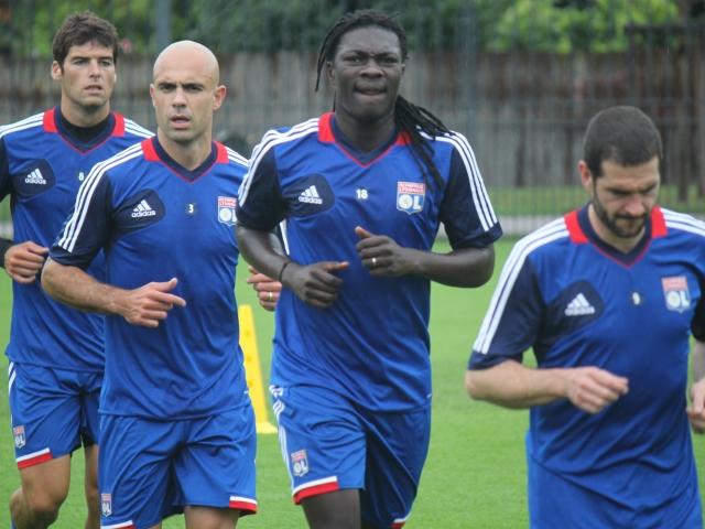 Lisandro et Gourcuff, avec Cris et Gomis à l'entrainement - Photo Lyonmag.com/DR