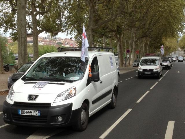 Artisans en colère : entre 150 et 250 fourgonnettes ont défilé dans Lyon