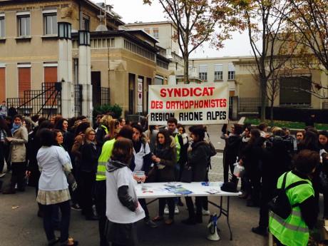 Les orthophonistes lors d'une précédente manifestation à Lyon - LyonMag