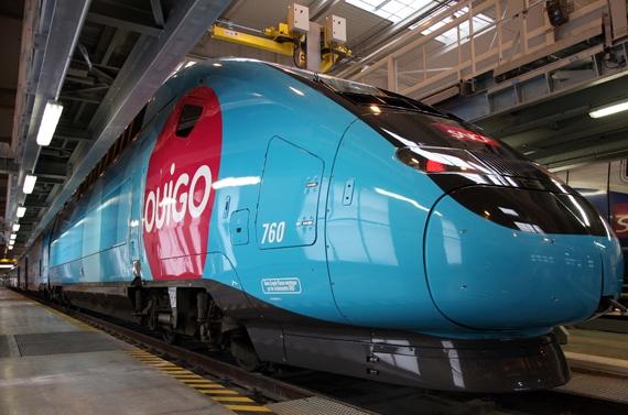 Le premier TGV low cost Ouigo sur les rails mardi matin à Lyon Perrache