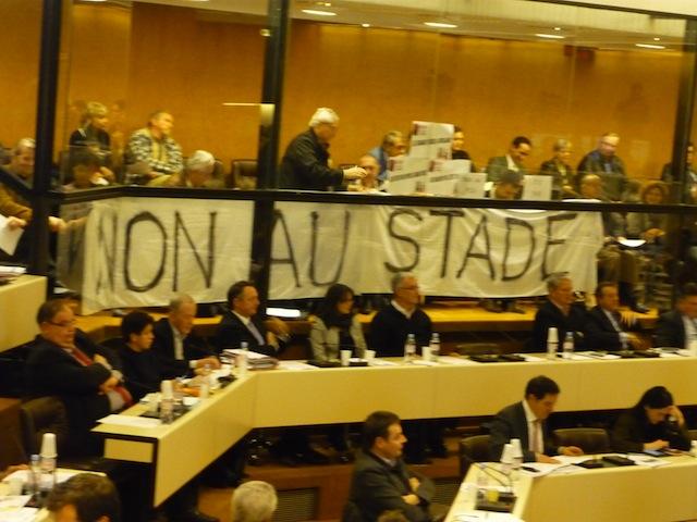 Les anti-Grand Stade donnent de la voix au Grand Lyon