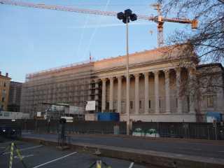 Le palais de Justice de Lyopn, n'est plus désormais enchâssé par les échaffaudages - LyonMag