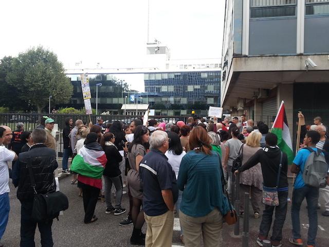 100 manifestants rassemblés à Lyon pour soutenir la Palestine ce mercredi