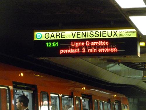 Incidents sur la ligne D : un métro qui fonctionne, c'est pas automatique !