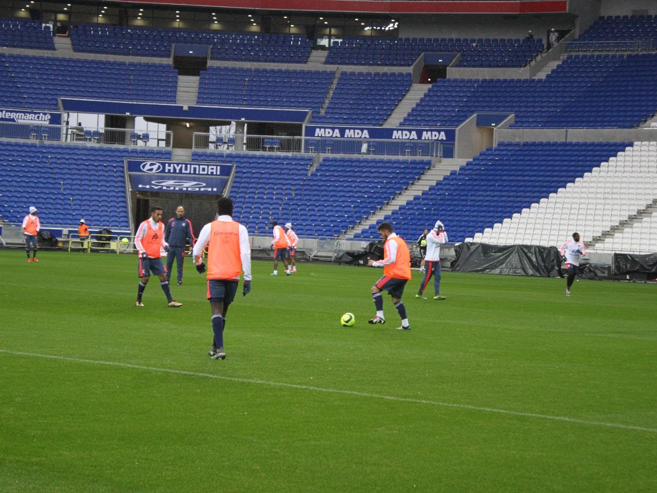 Les joueurs ont réalisé leur premier entraînement à Décines ce jeudi - LyonMag.com