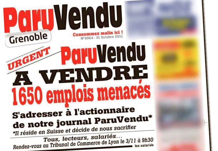 Paru Vendu publie son propre avis de décès